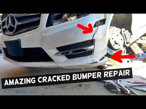 HOW TO FIX CRACKED BUMPER, AMAZING REPAIR