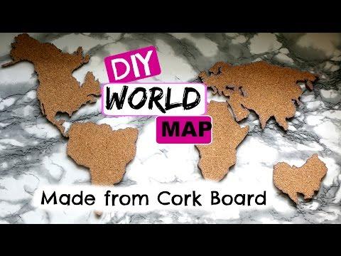DIY WORLD MAP MADE FROM CORK BOARD! | SimplieLeslie