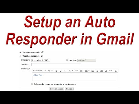 How to Setup an Auto Responder in Gmail | Gmail Vacation Responder
