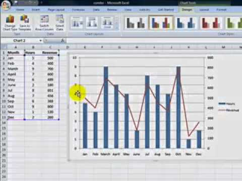 Create a combination chart in Excel 2007  YouTube