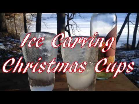 Ice Carving Christmas Cups & Rhubarb Wine