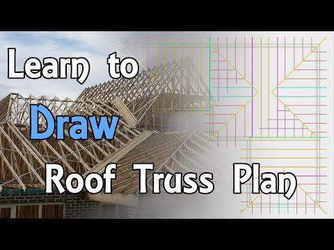 Basic & Easy How to draw roof truss plan
