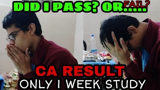 CA EXAM RESULT!! (LIVE REACTION OF MY RESULT) || ONLY 1 WEEK OF STUDY || CA FOUNDATION RESULT 2019||