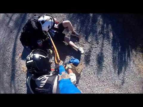 STARR 1 Helicopter Rescues Injured Hiker on Mt. Diablo