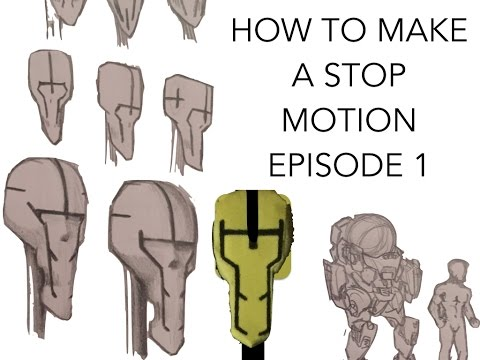 How to make a Stop Motion Episode 1: script, storyboard and concept art