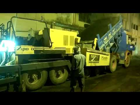 Fastest Road Construction Work in India - Night workers