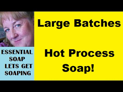 How to make Commercial Batches of Homemade Soap