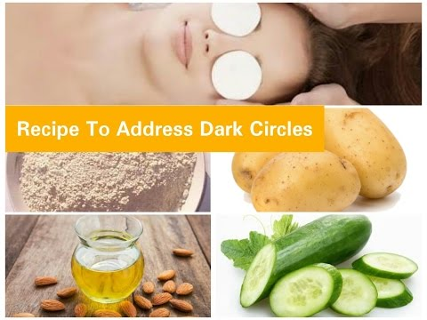 How To Get Rid of Dark Circles/DIY Home Remedies