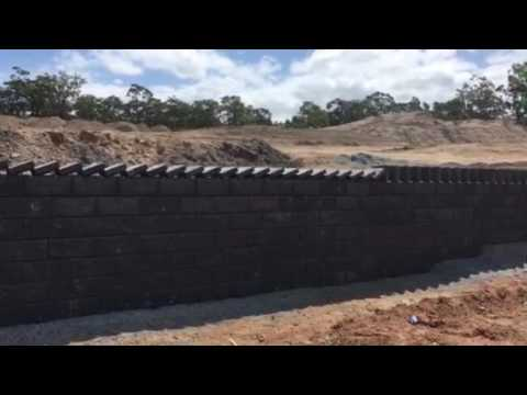 How to build a retaining wall with style, Domino style!!!