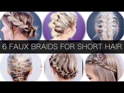 6 Different Faux Braids For Short Hair | Milabu