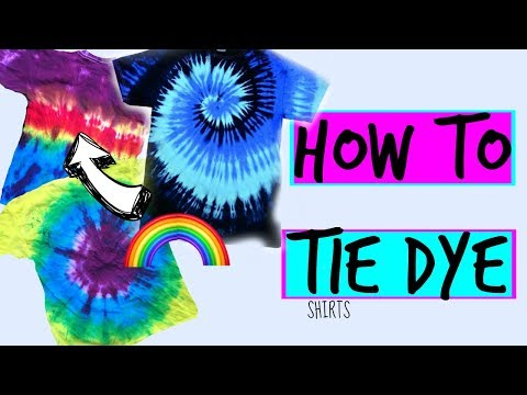 How to TIE DYE basic t-shirts