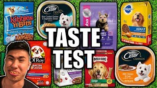 DOG FOOD TASTE TEST CHALLENGE!