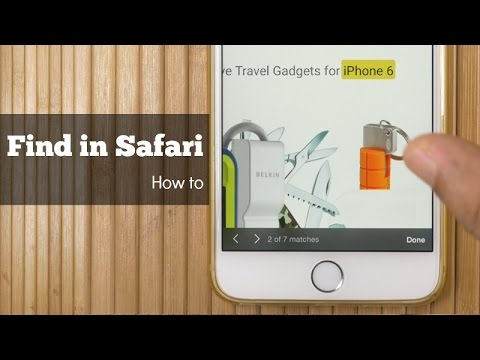 Search - Find a Text on a Webpage in Safari iOS 9