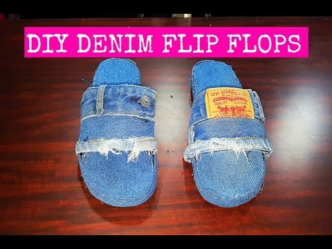 DIY DENIM SLIDES (EASIEST METHOD!!)