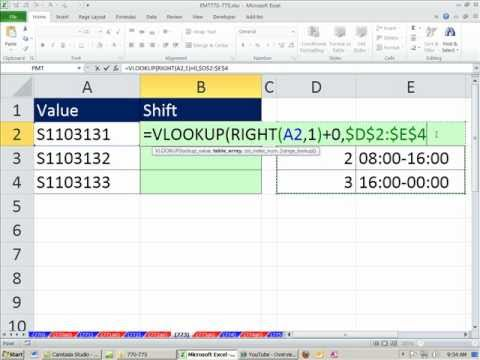Excel Magic Trick 773: VLOOKUP to lookup last character in ID Code & Convert Number Text to Number