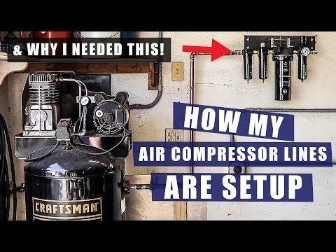 How I Setup My Air Compressor Lines & Installing Air Dryer | JIMBO'S GARAGE