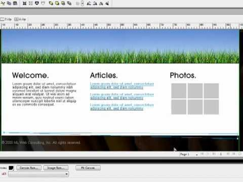 How To Design a Website using Adobe Fireworks
