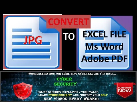 How to convert JPG IMAGE To MsExcel , Ms Word ,  Adobe PDF,  RTF document (rtf)?
