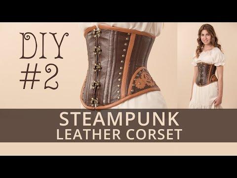 Steampunk corset DIY. How to sew steampunk under-bust corset? Tutorial 2