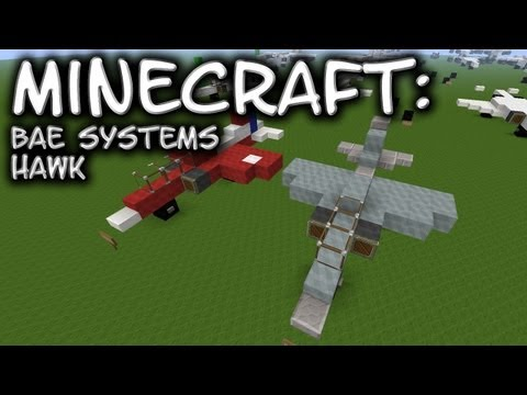Minecraft: BaE Systems Hawk / Red Arrows Tutorial