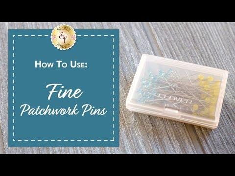 Fine Patchwork Pins | Shabby Fabrics