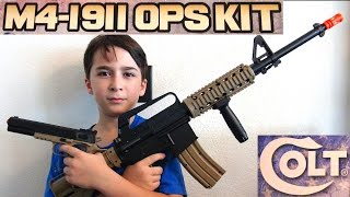 Airsoft Guns - M4 Airsoft Assault Rifle and 1911 COLT PISTOL with Robert-Andre!