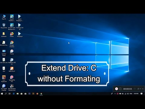 Expand Local Drive C without formatting data | Windows 7/8/10