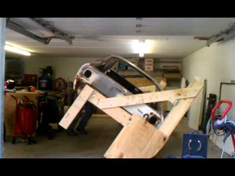 Wood car rotisserie