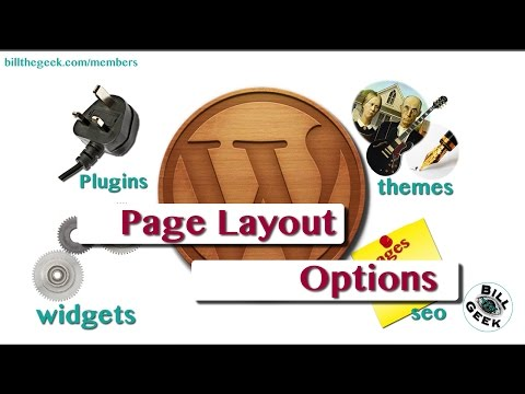 Changing Page Layouts in Wordpress