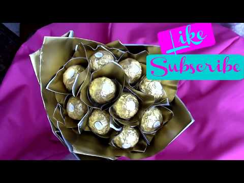 How to make Valentines Gift (Ferrero Rocher Bouquet)