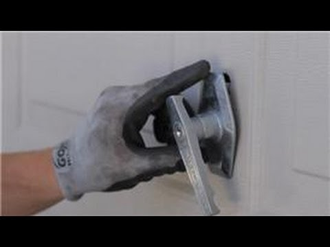 Garage Door Help : How to Replace a Garage Door Lock or Handle