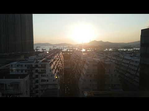 Hong Kong harbour sunset timelapse