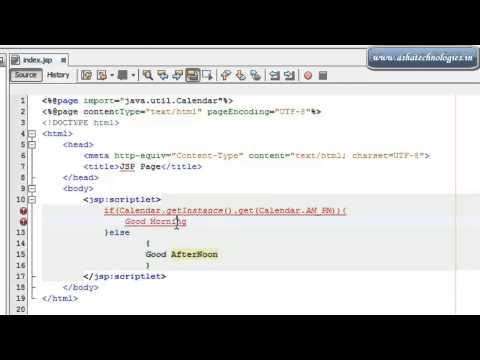 J2EE Tutorials for beginners  5  how to use jsp scriptlets in jsp pages
