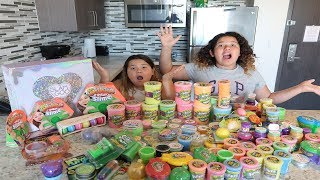 MIXING ALL OUR STORE BOUGHT SLIMES 2 - GIANT SLIME SMOOTHIE
