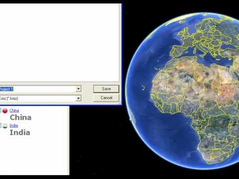 Save a kmz file in Google Earth