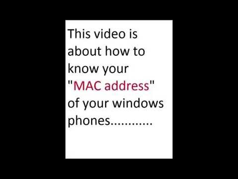 how to know MAC of windows phone