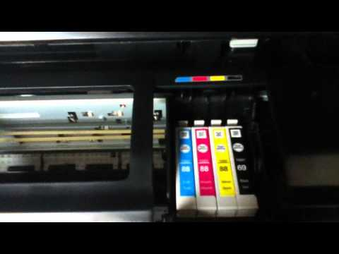 How to replace ink on epson stylus NX415
