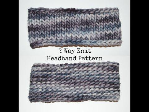 2 Way Knit Headband Pattern