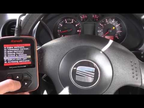 Seat Ibiza Airbag Light Cleared & Reset With iCarsoft i908 Diagnostic