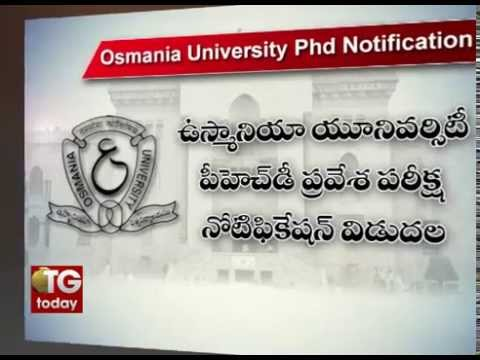 OU Ph.D. admission notification released