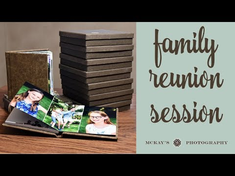 Summer Vacation Book Design: family reunion souvenir books