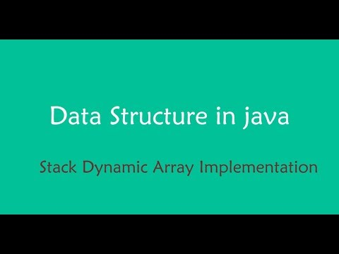java data structure - stack implementation using resizable Array