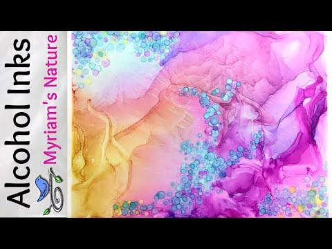 49] WISPY, Silky, ETHEREAL Looks in ALCOHOL INK + embellishments - FULL Tutorial