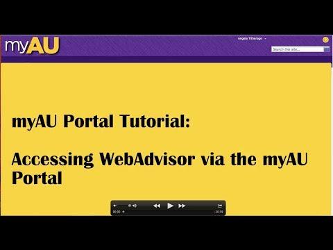 Accessing WebAdvisor via the myAU Portal