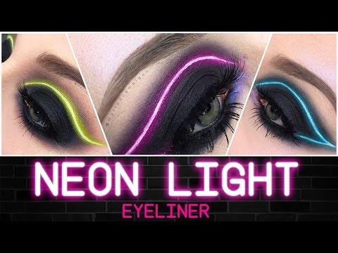 Neon Light Eyeliner Makeup Tutorial | Français / English
