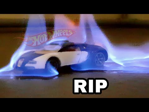 SETTING RARE HOT WHEELS CARS ON FIRE