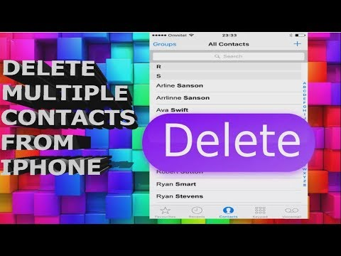 How to Delete Multiple Contacts in Iphone 2017