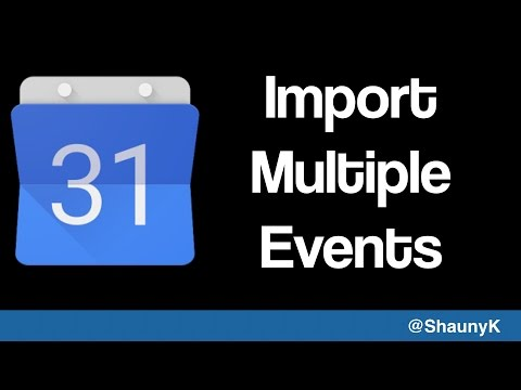 Adding multiple events to Google Calendar