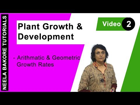 Plant Growth and Development - Arithmatic & Geometric Growth Rates