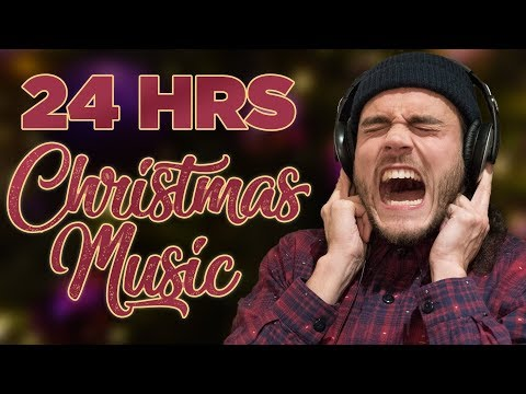 Guy goes crazy after 24hrs of Christmas music